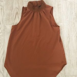 Banana Republic burnt orange blouse XXS sleeveless